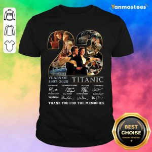 23 Years Of 1997 2020 Titanic Thank You For The Memories Signatures Shirt