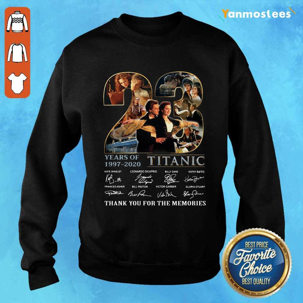 23 Years Of 1997 2020 Titanic Thank You For The Memories Signatures Sweater