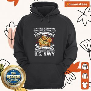 American Flag It Cannot Be Inherited Nor Can It Be Purchased Veteran Hoodie