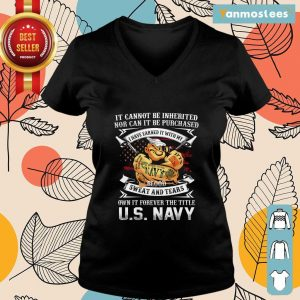 American Flag It Cannot Be Inherited Nor Can It Be Purchased Veteran Ladies Tee