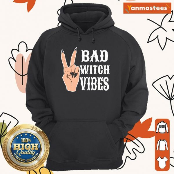Cool Hand Bad Witch Vibes Halloween Hoodie