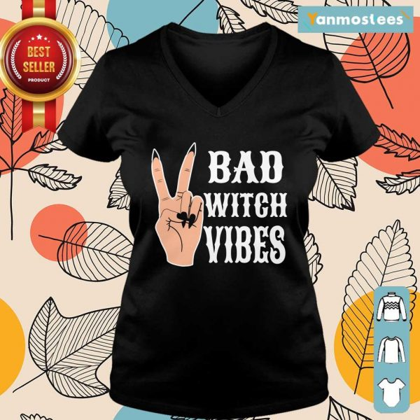 Cool Hand Bad Witch Vibes Halloween Ladies Tee