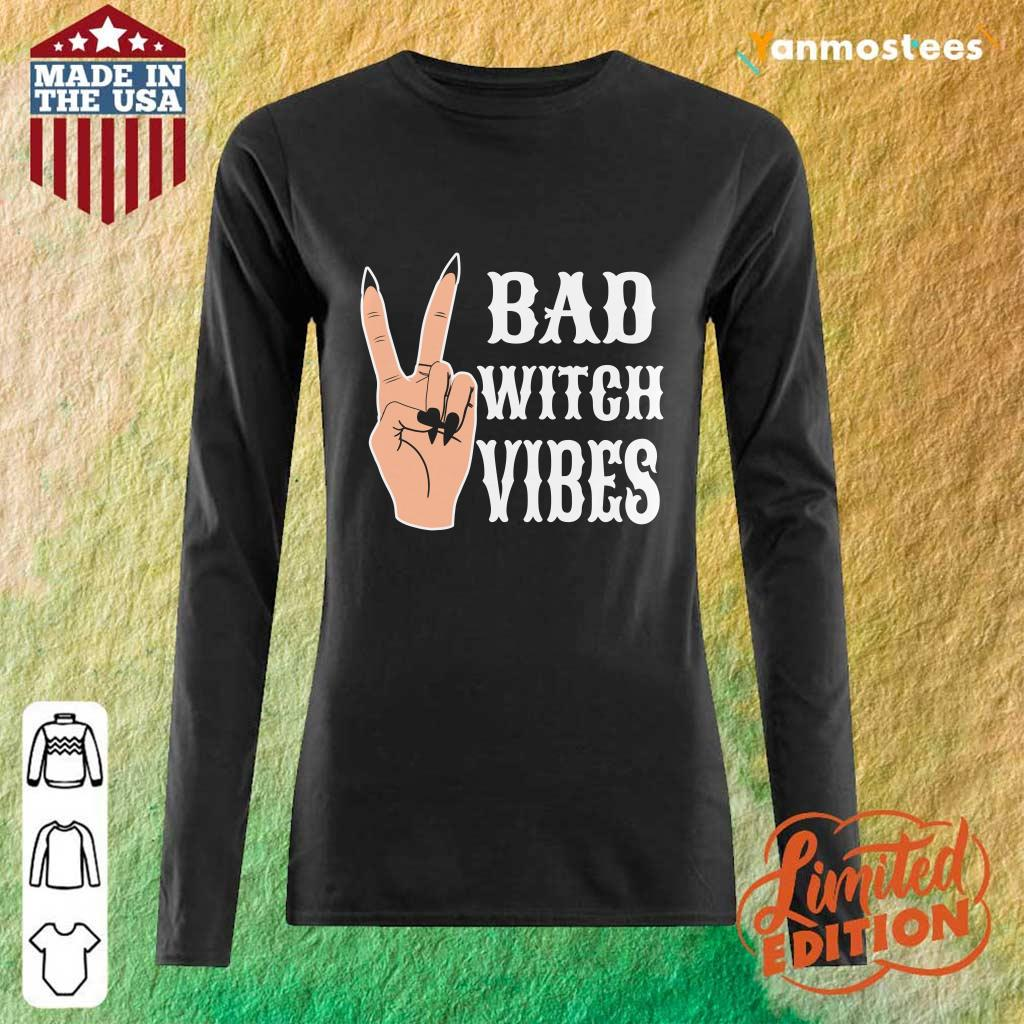 Cool Hand Bad Witch Vibes Halloween Long-Sleeved