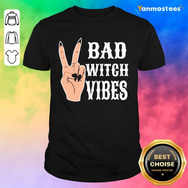 Cool Hand Bad Witch Vibes Halloween Shirt