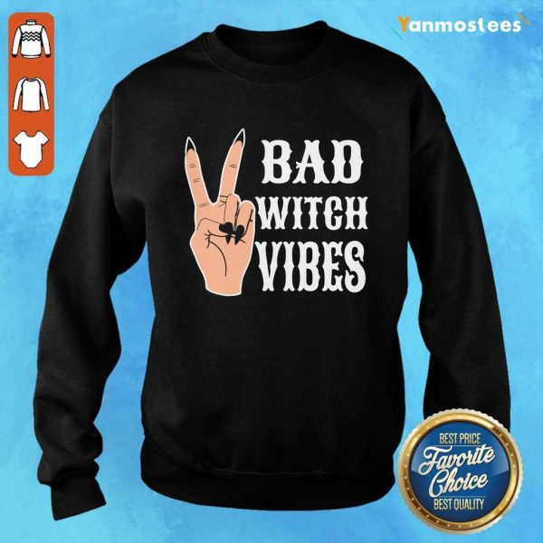 Cool Hand Bad Witch Vibes Halloween Sweater