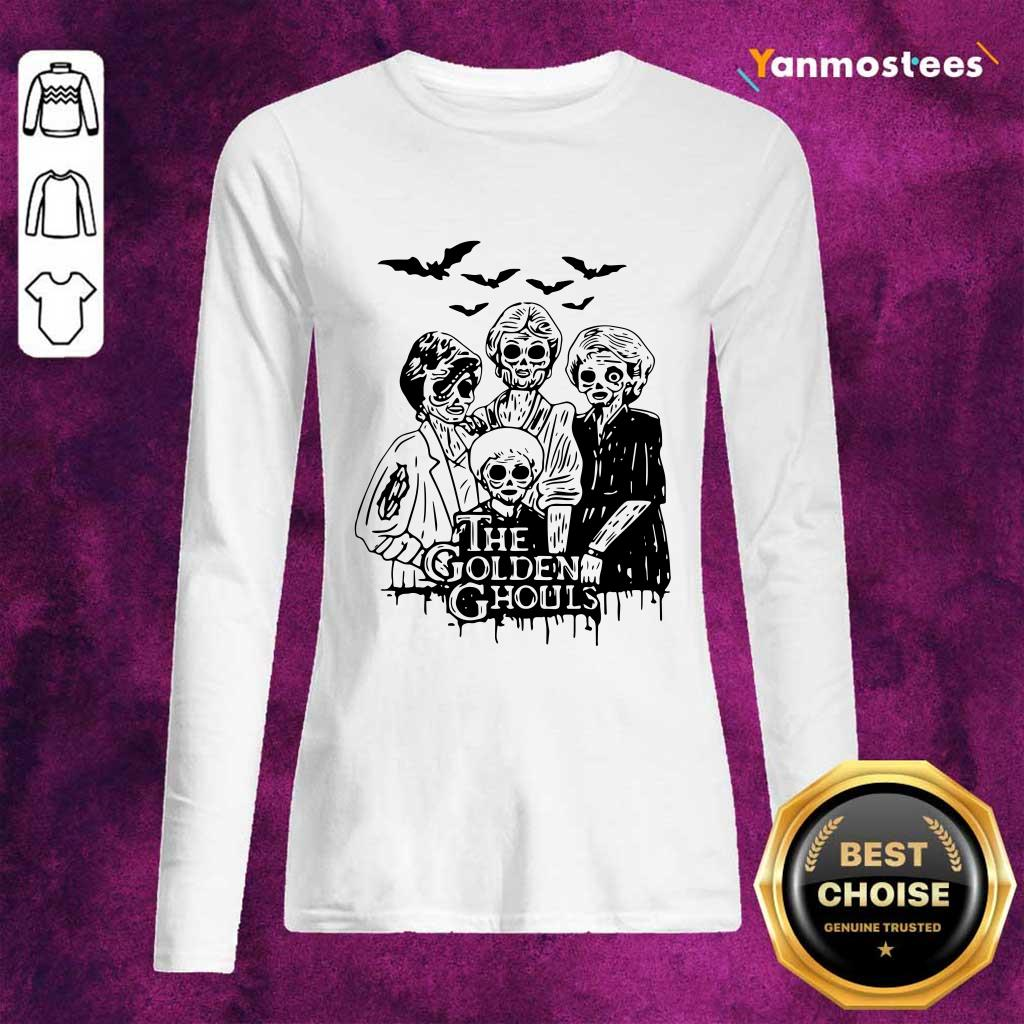 Halloween The Golden Ghouls Funny Long-Sleeved