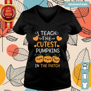 I Teach The Cutest Pumpkins In The Patch Halloween Ladies Tee
