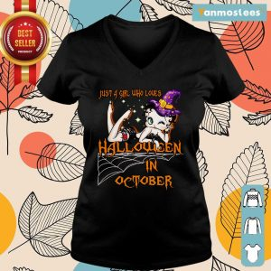Just A Girl Who Loves Halloween In October Ladies Tee
