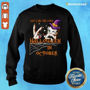Just A Girl Who Loves Halloween In October Sweater