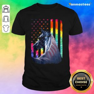 LGBT Horse American Flag Independence Day Shirt