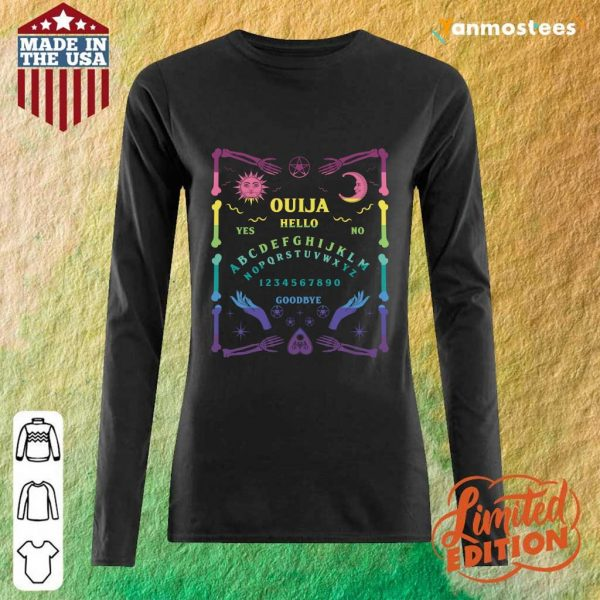 Ouija Board Pastel Goth Witchcraft Witch Wicca Tarot Spirit Halloween Long-Sleeved