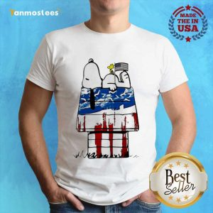 Snoopy Woodstock House American Flag 4th Of July Independence Day Shirt