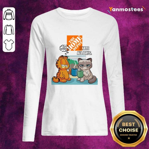 The Home Depot Grumpy Cat And Garfield I Hate All Days Long-Sleeved