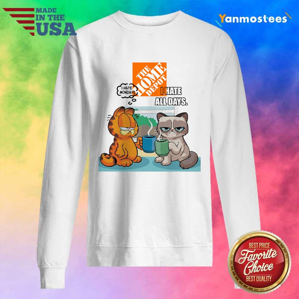 The Home Depot Grumpy Cat And Garfield I Hate All Days Sweater