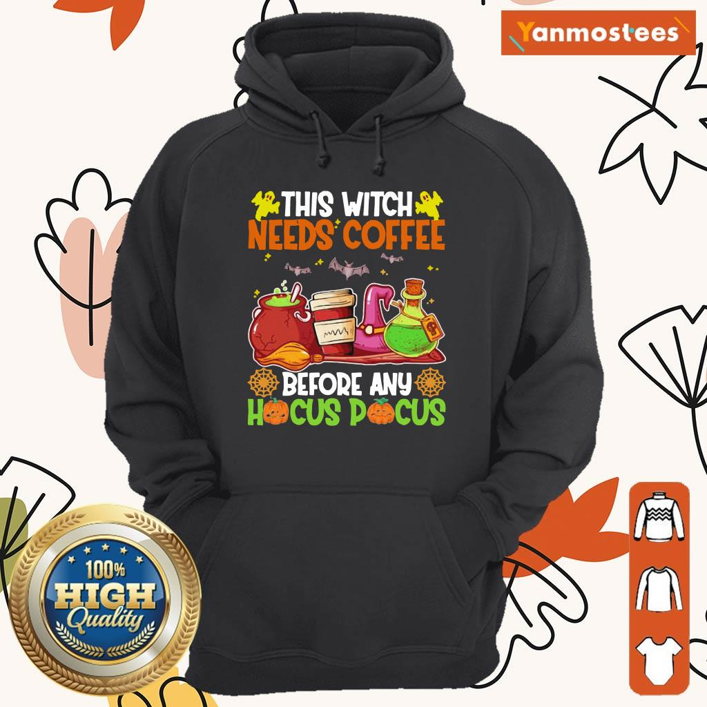This Witch Needs Coffee Before Any Hocus Pocus Halloween Hoodie