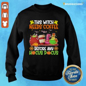 This Witch Needs Coffee Before Any Hocus Pocus Halloween Sweater