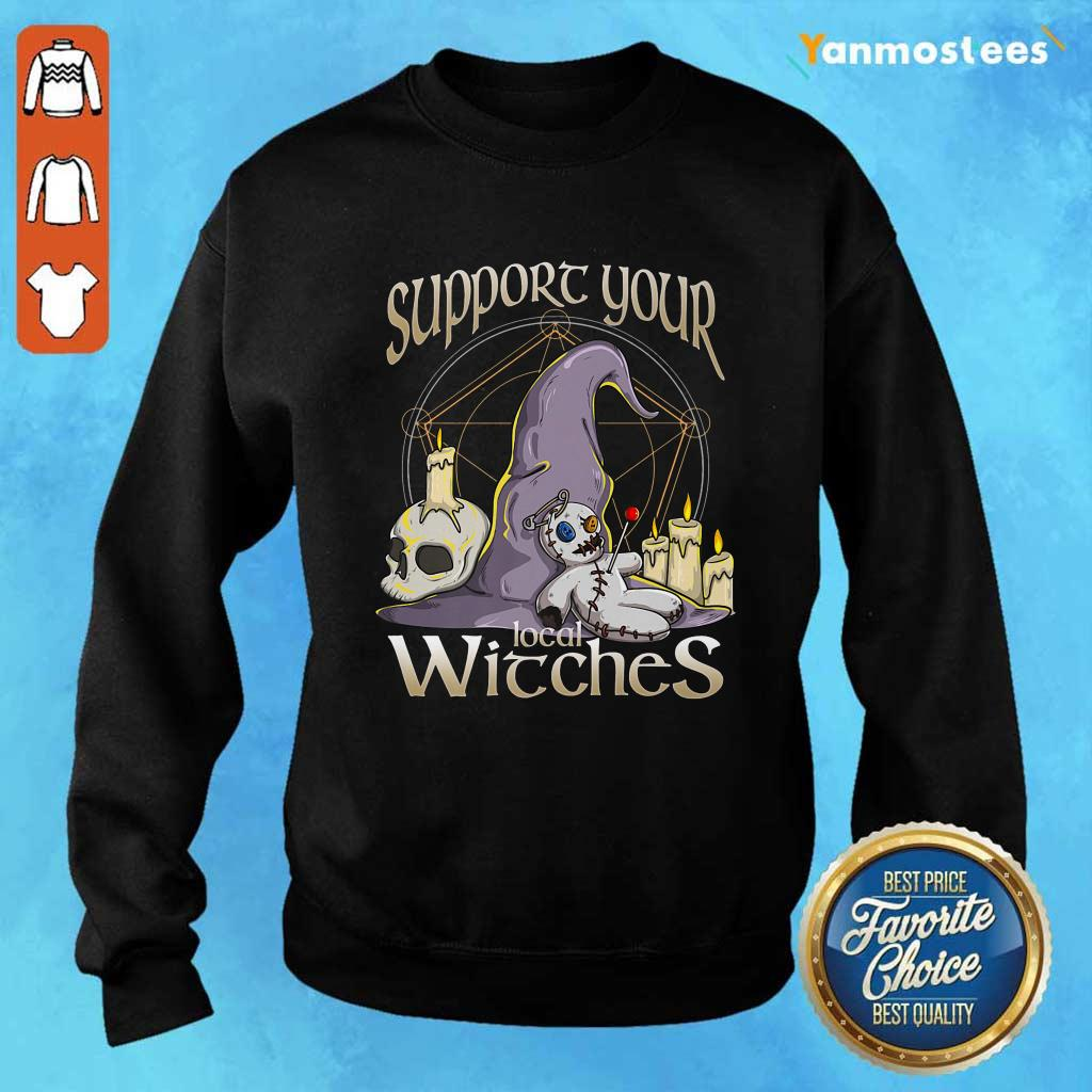 Witch Support Your Local Witches Halloween Sweater