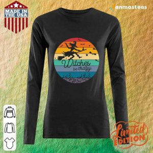 Witches Be Crazy Halloween Vintage Retro Long-Sleeved