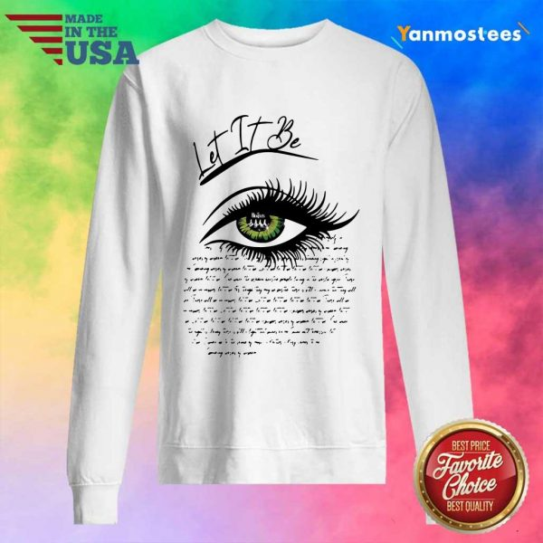 Writing I See Let It Be Eye Sweater