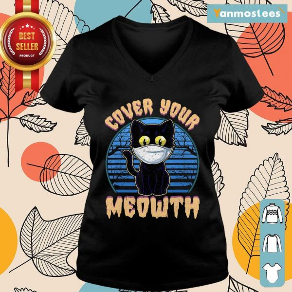 Cover Your Meowth Funny Cat Mask Halloween Gift Ladies Tee