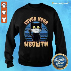Cover Your Meowth Funny Cat Mask Halloween Gift Sweater