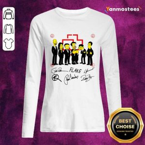 Hot Rammstein Simpsons Flake Signatures Long-Sleeved