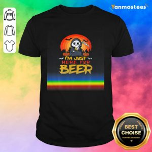Im Just Here For Beer Halloween Halo Funny Ghost Shirt