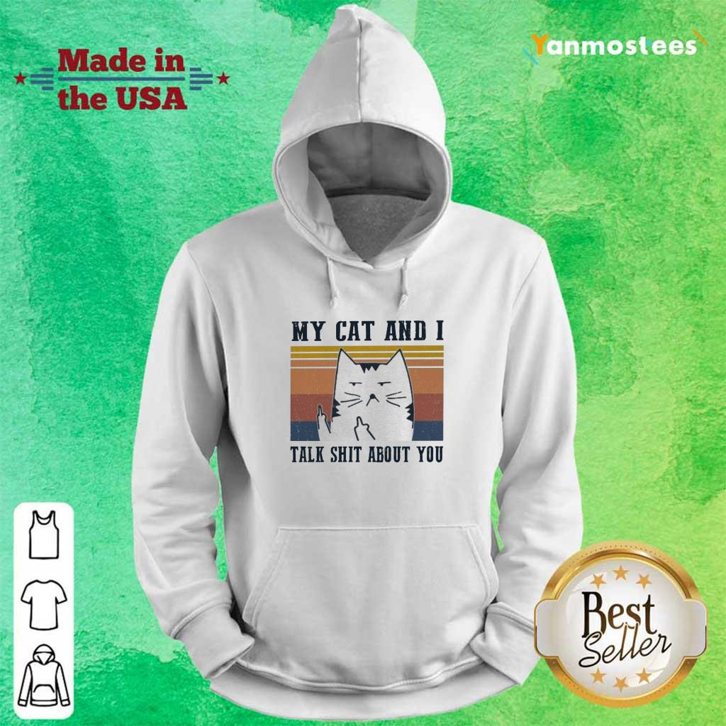 My Cat And I Talk Shit About You Vintage Hoodie