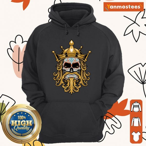 The King Sugar Skull Day Of The Dead Hoodie