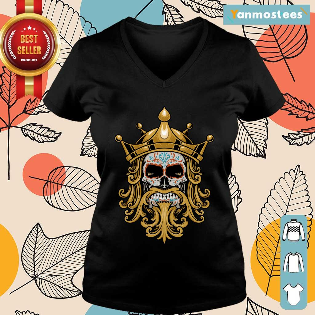 The King Sugar Skull Day Of The Dead Ladies Tee