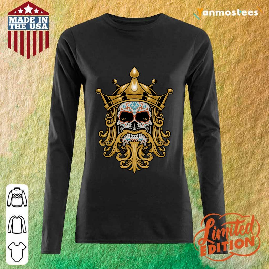 The King Sugar Skull Day Of The Dead Long-Sleeved