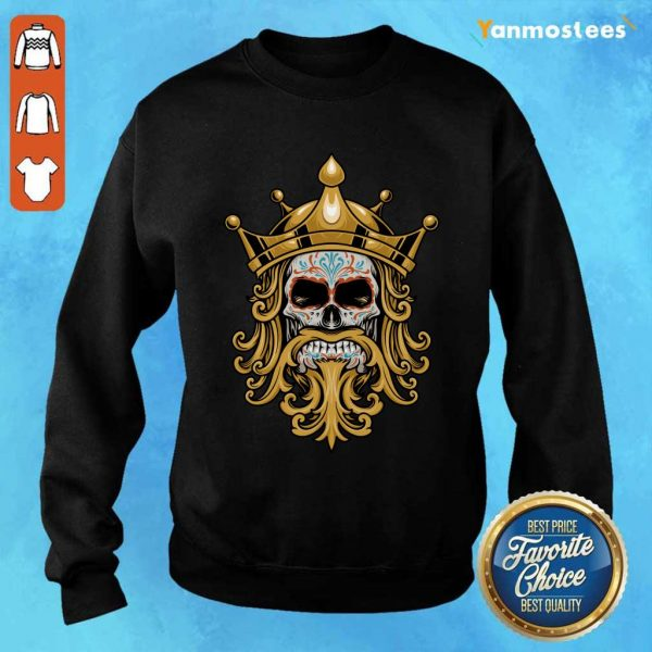 The King Sugar Skull Day Of The Dead Sweater