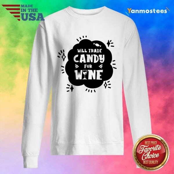 Will Trade Candy For Wine Day Of Dead Sweater
